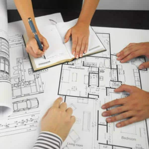 Design and planning phase of a house extension project