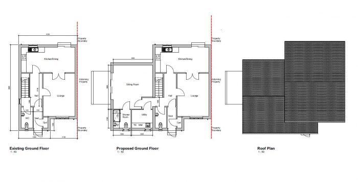 single storey extension requires planning permission and a building warrant