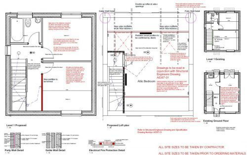 Basic Loft Conversion Drawing